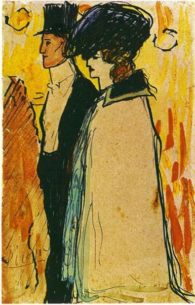 Couple walking, 1901 - Pablo Picasso