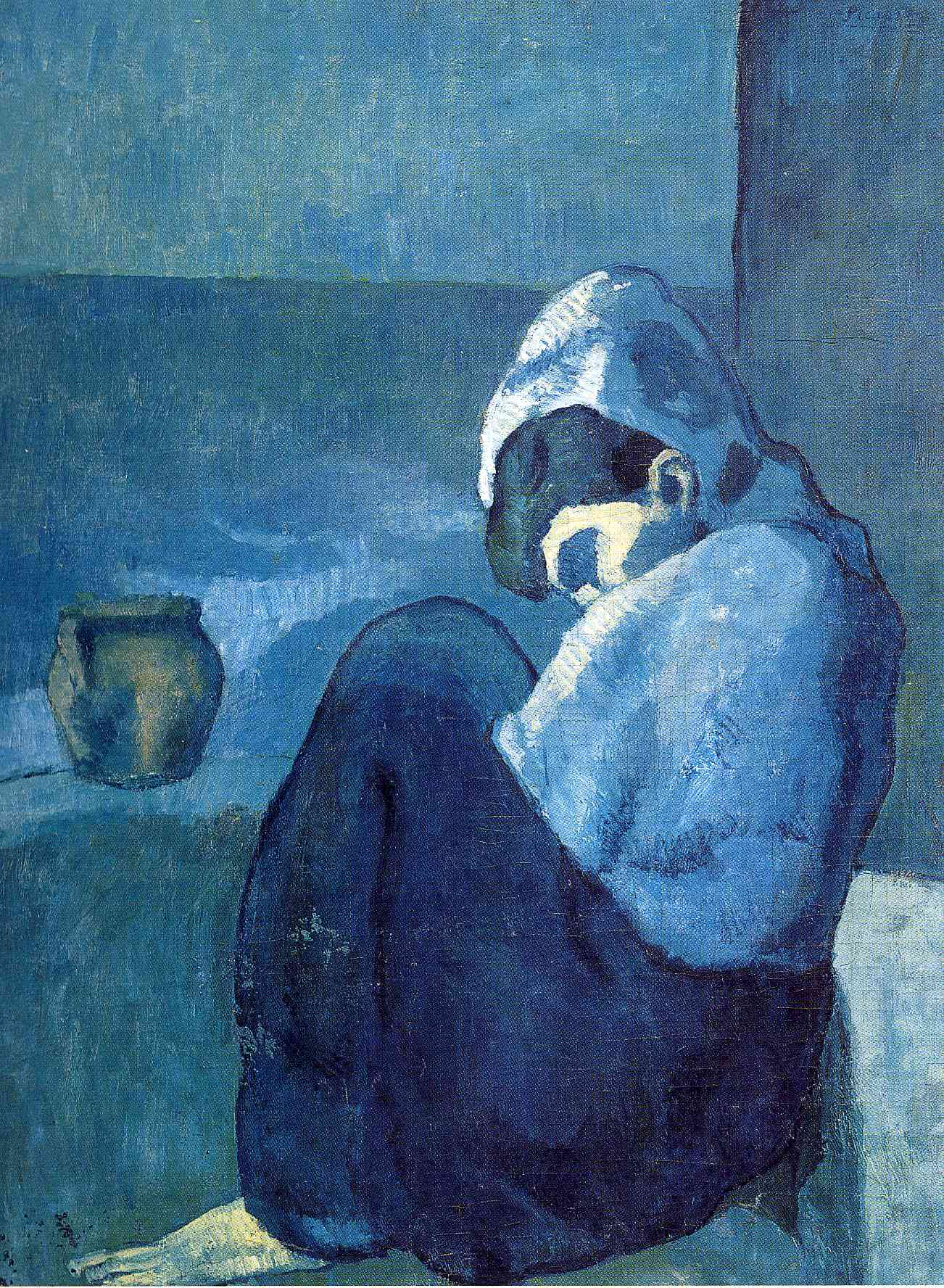 Crouching Woman 1902 Pablo Picasso Wikiart Org