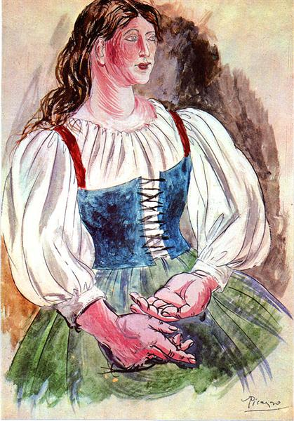 """Design of costume for """"Pulcinella"""", 1920 - Pablo Picasso"""