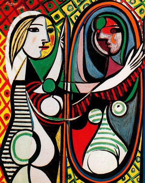 Girl in front of mirror, 1932 - Pablo Picasso