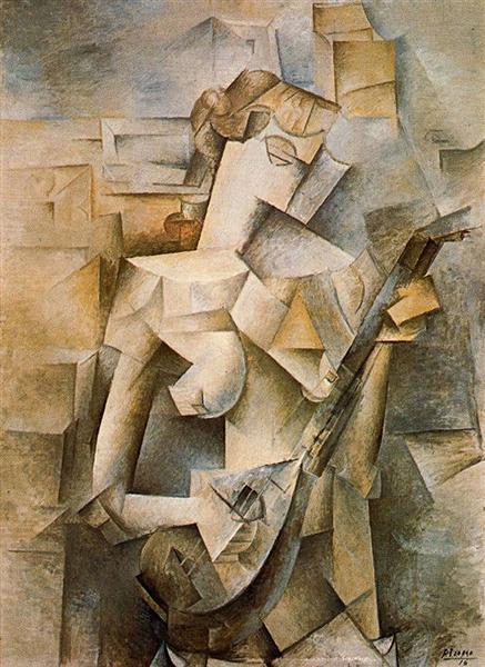 Girl with mandolin (Fanny Tellier), 1910 - Pablo Picasso