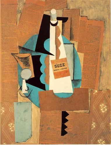 Glass and bottle of Suze - Pablo Picasso