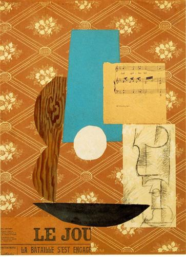 Guitar, Sheet music and Wine glass - Pablo Picasso