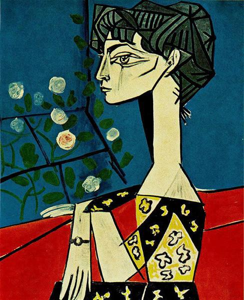 Jacqueline with flowers, 1954 - Pablo Picasso