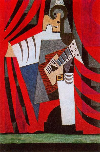 Punchinello with guitar, 1920 - Pablo Picasso - WikiArt.org