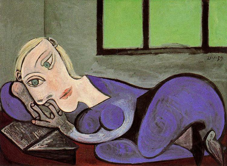 Reclining woman reading, 1960 - Pablo Picasso