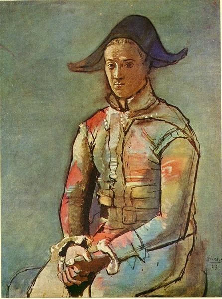 Seated harlequin (Jacinto Salvado), 1923 - Pablo Picasso