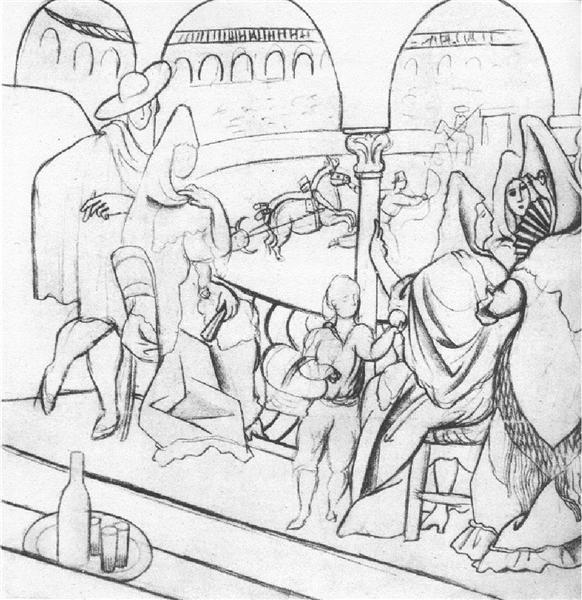 """Tricorne"" (study), 1919 - Pablo Picasso"