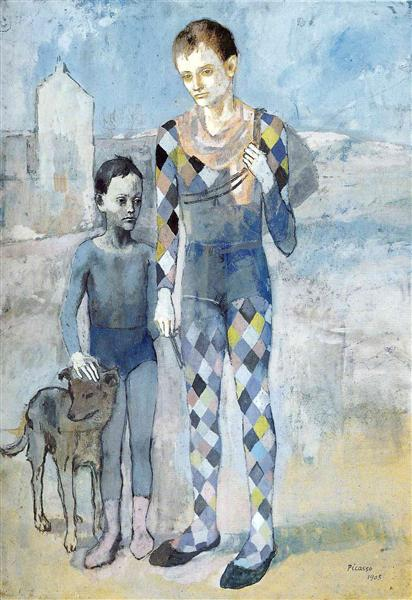 Two acrobats with a dog, 1905 - Pablo Picasso
