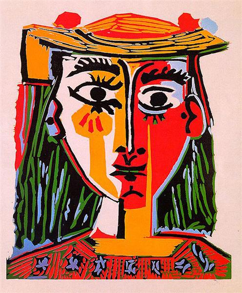 Woman with hat, 1962 - Pablo Picasso