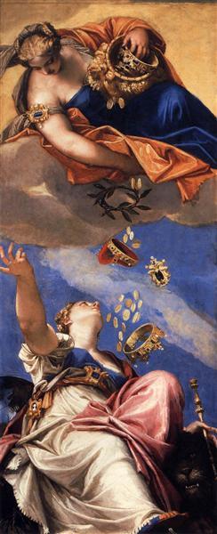 Juno Showering Gifts on Venetia, 1554 - 1556 - Paolo Veronese