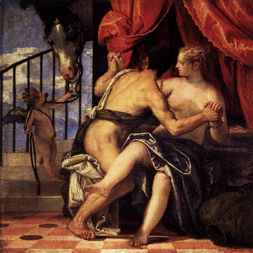 Venus and Mars with Cupid and a Horse - Paolo Veronese