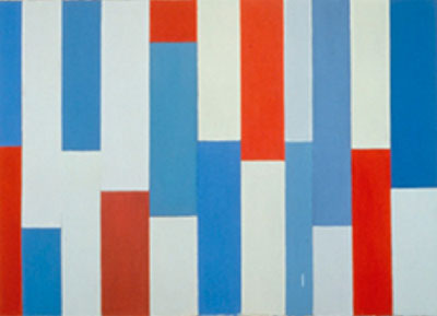 Red, White and Blue, 2001 - Pat Lipsky