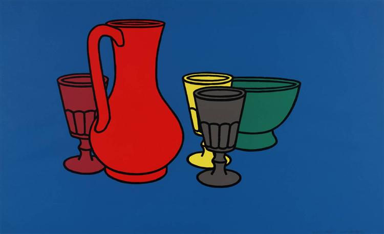 Coloured Still Life, 1967 - Patrick Caulfield