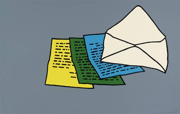 The Letter, 1967 - Patrick Caulfield