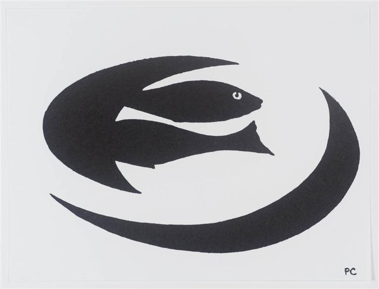 Two Fish on a Plate, 1999 - Patrick Caulfield