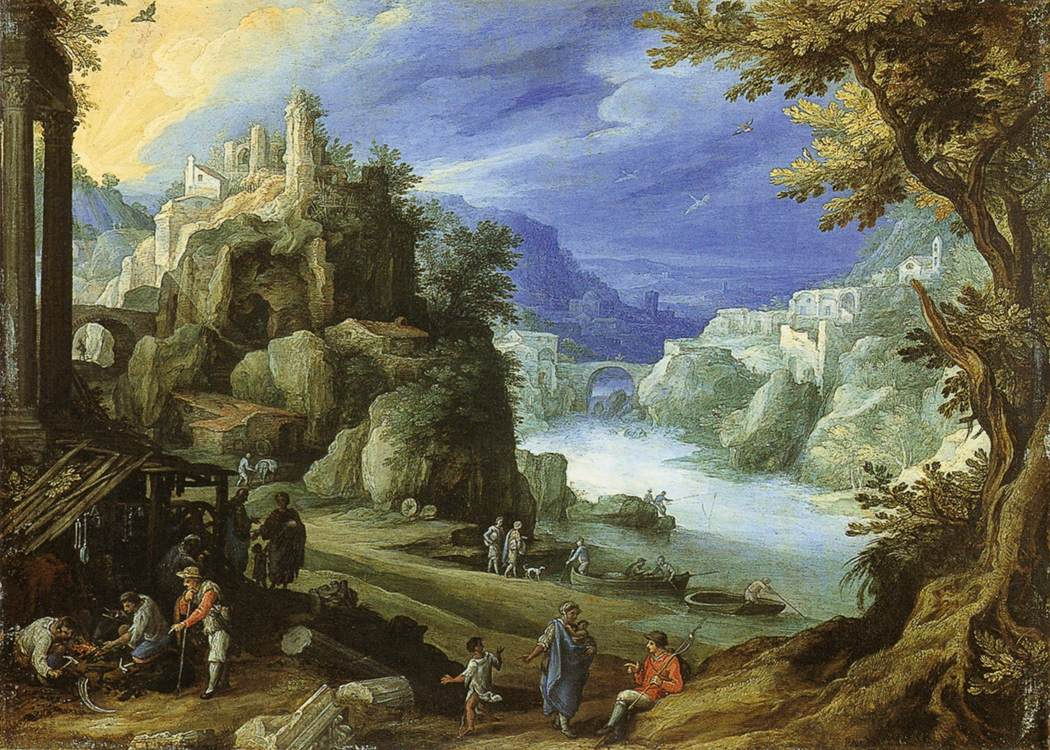 Fantastic mountain landscape, 1598