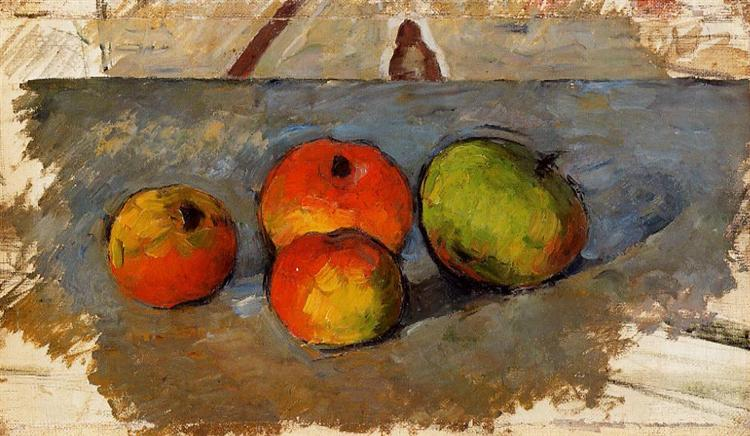 Four Apples, c.1881 - Paul Cezanne
