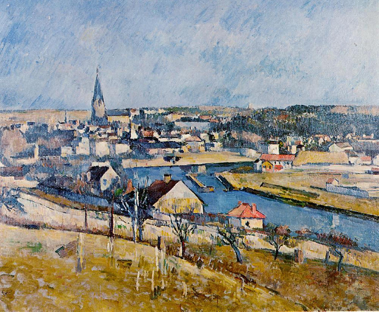 ile de france landscape 1880 paul cezanne. Black Bedroom Furniture Sets. Home Design Ideas