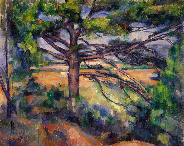 Large Pine and Red Earth, 1895 - Paul Cezanne