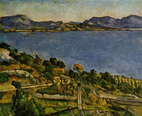 Sea at L'Estaque - Paul Cezanne