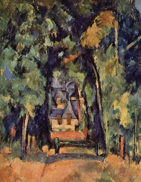 The Alley at Chantilly, 1888 - Paul Cezanne