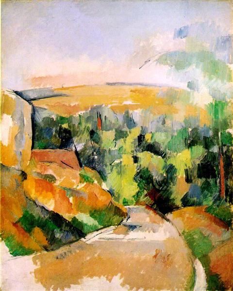 The Bend in the road, c.1905 - Paul Cezanne