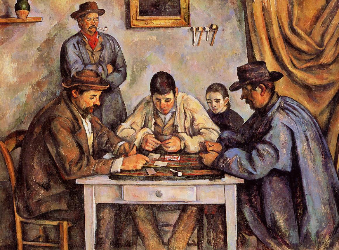 Αποτέλεσμα εικόνας για . The Card Players by Paul Cézanne