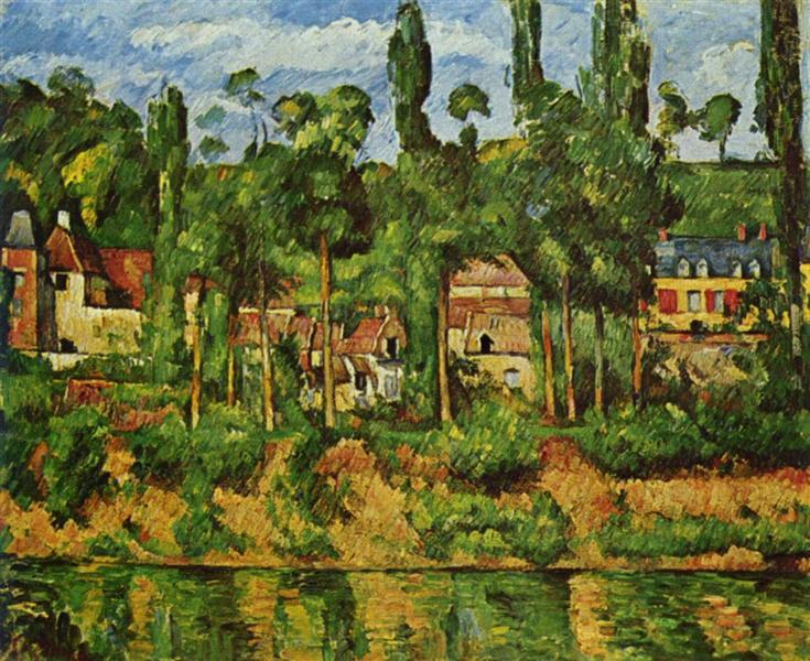 The Chateau de Medan, c.1880 - Paul Cezanne