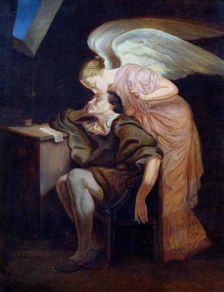 The Kiss of the Muse, c.1860 - Paul Cezanne
