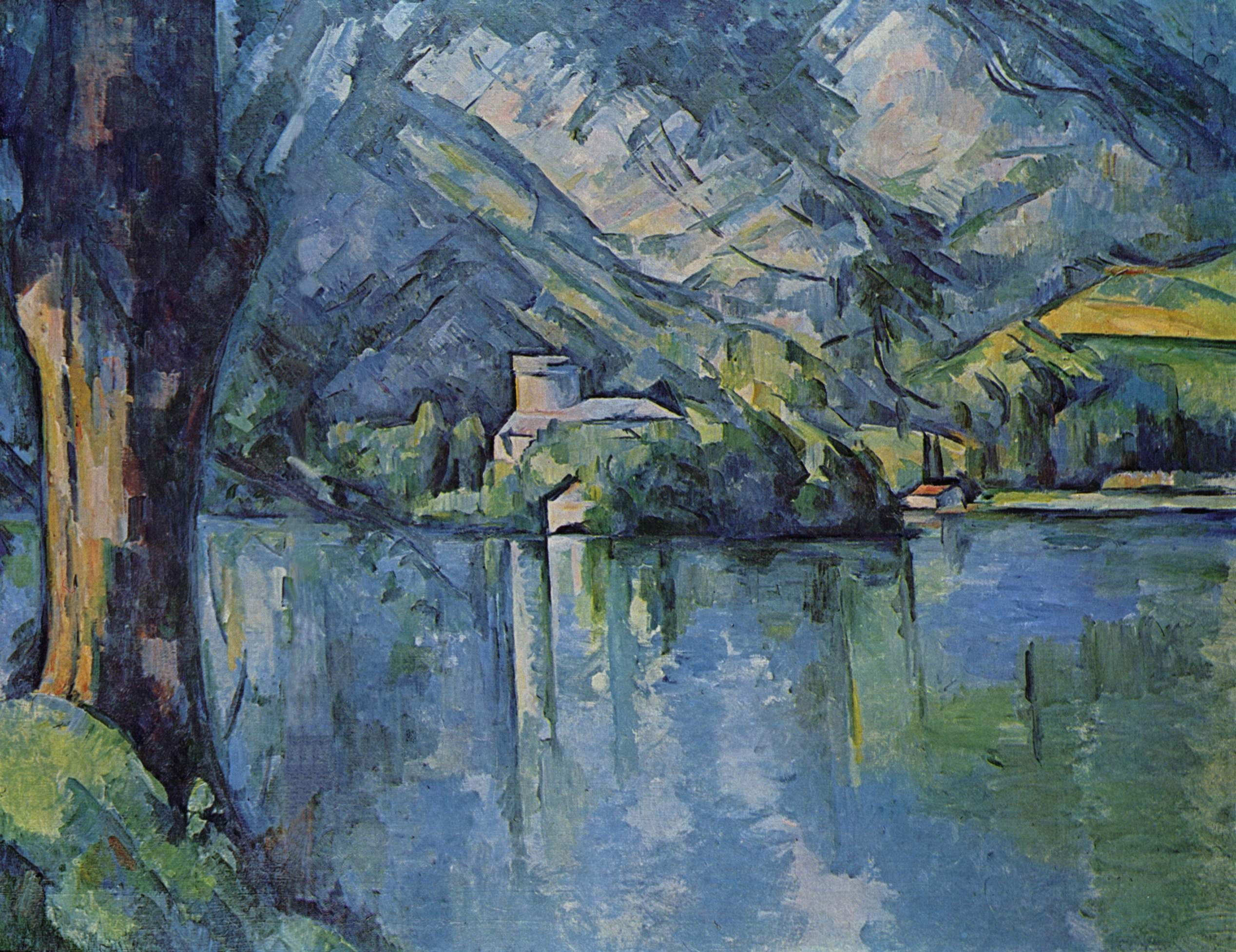 the lac d 39 annecy 1896 paul cezanne