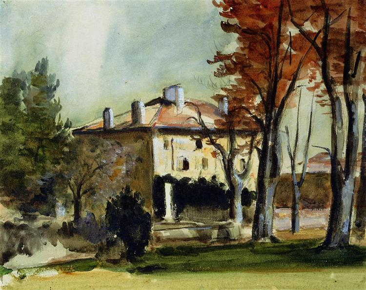 The Manor House at Jas de Bouffan, 1870 - Paul Cezanne