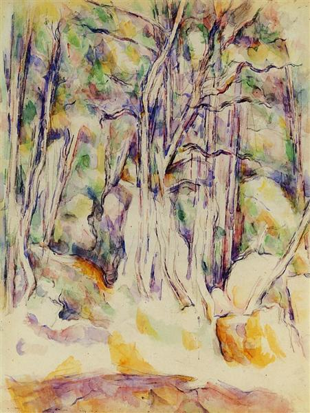 The Park of the Chateau Noir with Well, c.1904 - Paul Cezanne