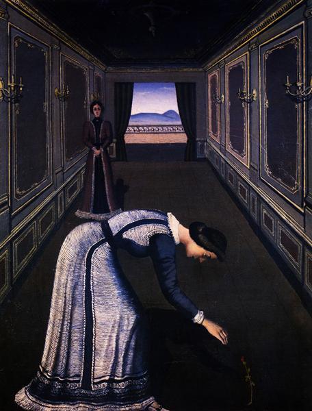 Femme a la Rose, 1936 - Paul Delvaux
