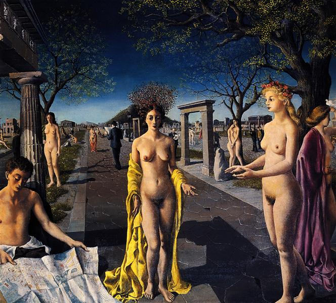 The entrance to the city, 1940 - Paul Delvaux