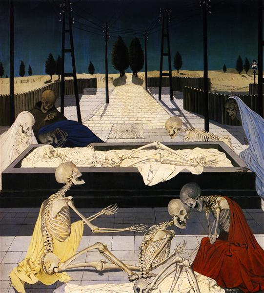 The Focus Tombs, 1957 - Paul Delvaux
