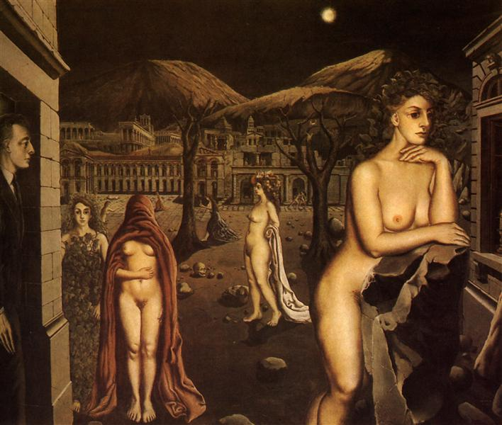 The sleepy town, 1938 - Paul Delvaux