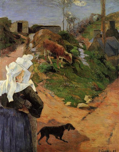 Breton Women at the Turn, 1888 - Paul Gauguin