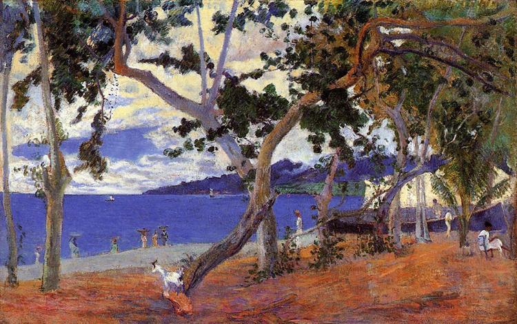 Прибрежный пейзаж Мартиники, 1887 - Поль Гоген