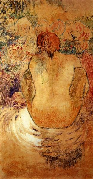 Crouching Tahitian woman, 1902 - Paul Gauguin