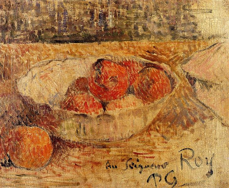 Fruit in a bowl, 1886 - Paul Gauguin