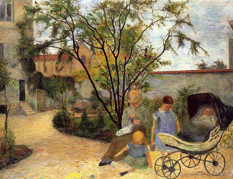 Garden In Rue Carcel, c.1883 - Paul Gauguin