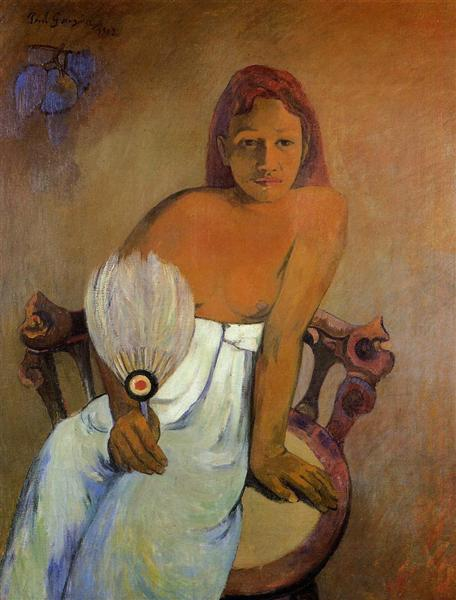 Girl with a Fan, 1902 - Paul Gauguin