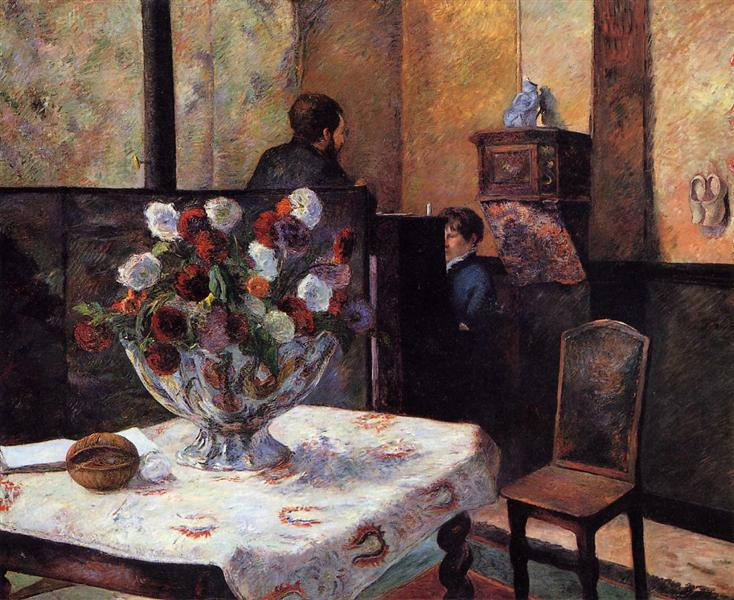 Interior of the Painter's House, rue Carcel, 1881 - Paul Gauguin