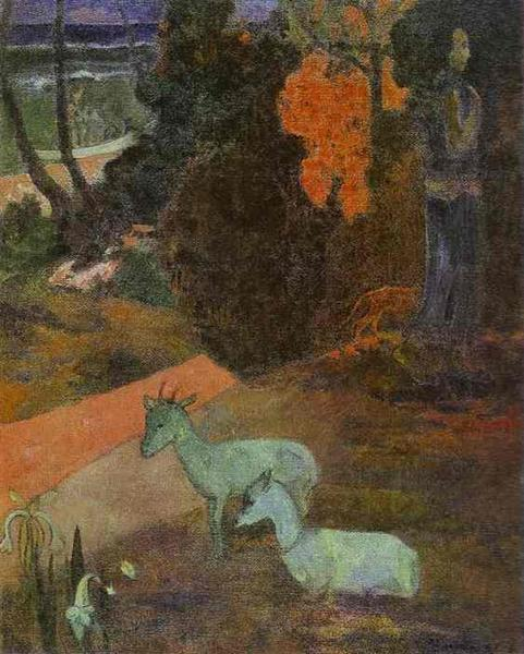 Landscape with two goats, 1897 - Paul Gauguin
