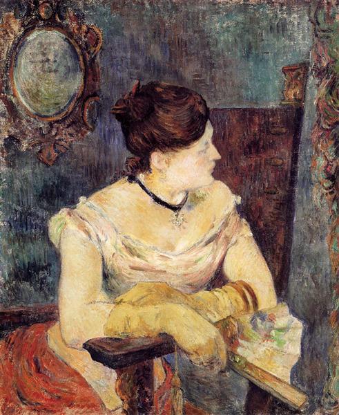 Mette Gauguin in an Evening Dress, 1884 - Paul Gauguin