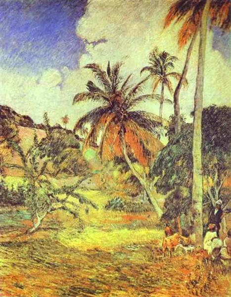 Palm trees on Martinique, 1887 - Paul Gauguin
