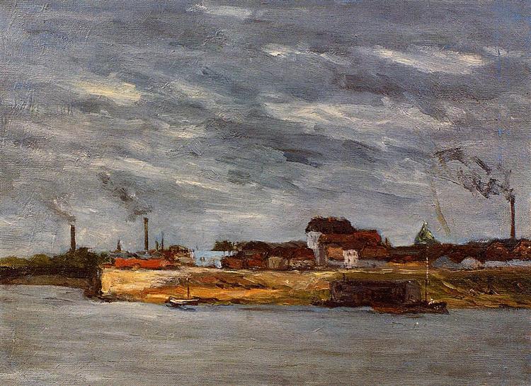 Port de Javel, 1876 - Paul Gauguin