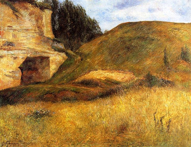 Quarry hole in the cliff, 1882 - Paul Gauguin