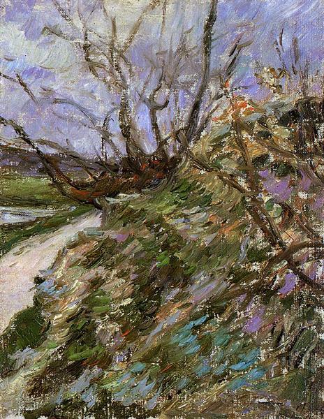 River bank in winter, c.1881 - Paul Gauguin